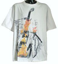 Herren BIG SIZE ED Baxter Designer Flaming Guitar T Shirt in weiß 3xl 4xl 5xl 6xl