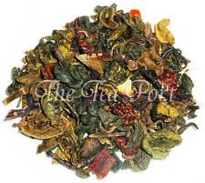 Pomegranate Hibiscus Green Loose Leaf Tea - 1/2 lb
