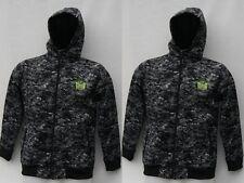 Tapout UFC Felpa con Cappuccio Mimetica completo giacca con zip Junior boys-Black Aop RRP £ 49