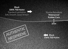 BLACK 2mm Neoprene Fabric Thin Scuba Stretch Wetsuit Rubber Sheets Aquatic Foam