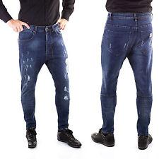 Jeans Uomo Slim Fit Pantaloni Tuta per Giacca Camicia Cardigan elasticizzato k-4