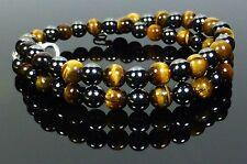 Magnetic Hematite Tigers Eye Necklace High Power Healing, Bespoke, Gemstone
