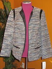 ALFRED DUNNER NWT $84 VIA CONDOTTI women's blazer blue beige white jacket