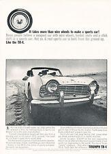 1963 Triumph TR-4 TR4 - wheel wire - Classic Vintage Advertisement Ad H28
