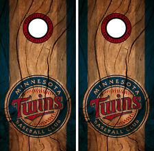 Minnesota Twins Cornhole Wrap MLB Decal Wood Vinyl Gameboard Skin Set YD129