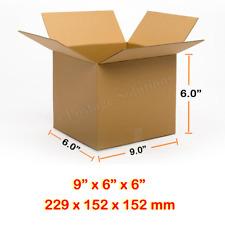 "SINGLE WALL POSTAL CARDBOARD BOXES 9"" x 6"" x 6"" CHEAPEST 229x152x152mm 9x6x6"