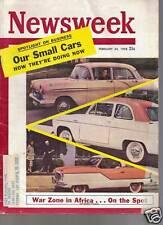 Newsweek Magazine Our Small Cars February 24,  1958