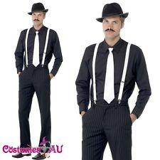 20s Gangster Instant Kit 1920s Mens Costume Hat Tie Spats Braces Moustache 20's