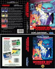 Wonder Boy en Monster MEGA DRIVE NTSC PAL caja de sustitución Arte, cubierta caso inserto