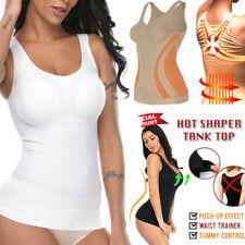 Womens Seamless Compression Vest Body Shaper Tank Top Slimming Corset Shapewear