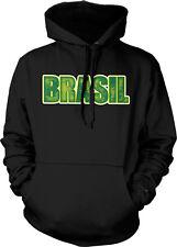 Brasil Text Bold Republica Federativa Do Brasil Brazil Soccer Hoodie Pullover