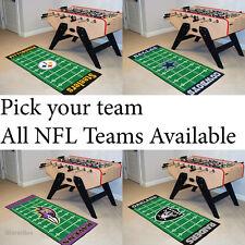 "NFL Man Cave Football Field Runner 30""x72"" Area Rug Floor Mat Made, AFC Teams"
