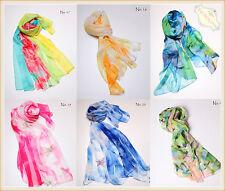 New Girls  Womens Fashion Long Scarf Wrap Lady Large Shawl Silk Scarves Stole