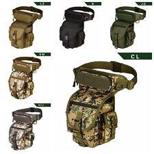 Men Tactical Military Hip Leg Bag Canvas Belt Waist Fanny Motorcycle Rider Pack