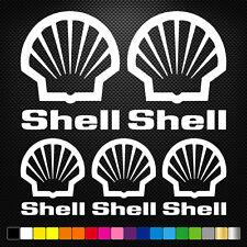SHELL 10 Stickers Autocollants Adhésifs Auto Moto Voiture Sponsor Marques