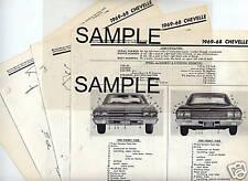 1961 1962 DODGE DART LANCER BODY PARTS LIST FRAME CRASH SHEETS MRE