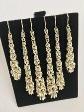 SILVER BYZANTINE TEARDROP DANGLE EARRINGS HANDMADE(.935 FINE STERLING ARGENTIUM)