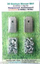 30-IN ACCIAIO INOX COLTELLO LAME 0,45mm Automower Husqvarna 305 308 310 315 320 330x