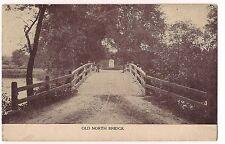 OLD NORTH BRIDGE Road Fence  MASSACHUSETTS Sepia POSTCARD Concord MA