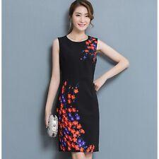 Elegante raffinato abito vestito donna tubino nero colorato slim morbido  3444 7b046299e55