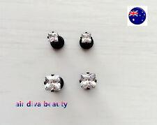 Surgical Piercing studs Cubic Earrings Man Women black bling Crystal Rhinestone