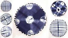 Round Mandala Throw Pillow Tie Dye Shibori Indian Cushion Cover Cotton Bed Case