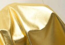 Lammleder gold-metallic Glattleder 0,5-0,7 mm weiches Lammnappa Leder #5219