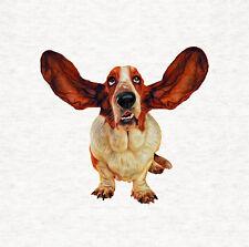 Basset Hound, Ear Flap, Digital paint,  Fabric Cushion / Upholstery Craft Panel