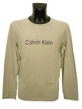 T-shirt uomo Calvin Klein Collection Tg. L Sabbia Cotone Manica lunga Original