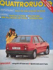 Quattroruote 376 1987 Lamborghini Jalpa,nuova Fiat Duna,Volvo 780turbo,BMV M3