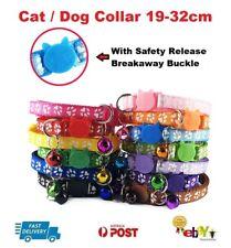 Breakaway Safety Quick Release Collar Adjustable Dog CAT Pet Puppy Kitten Bell