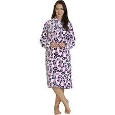 Linea Donna Slenderella Slouch ROBE. Super Morbido Di Lusso In Pile Loungewear Rosa o beige