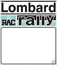 LOMBARD RALLY DOOR BADGE- RACE NUMBER GRAPHIC