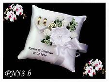 Anillo exclusivas almohada con nombre y fecha, box para, alianzas, con perla, boda