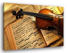 Quadro Moderno VIOLIN AND NOTES Vari Formati Violino Arredamento Stampa su Tela