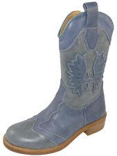 Zecchino d'Oro A18-1873 1093 Cowboy Stiefeletten Leder Stiefel Gr. 29 Neu