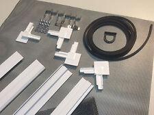 Insektenschutz Rahmen Fliegengitter DELUXE für Fenster WEISS 1 Set - Bausatz