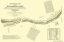 Topographical Map - Oregon Trail Nebraska 2 of 7 - Fremont 1846 - 23 x 35.55