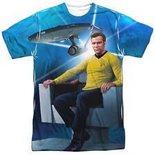 Star Trek Kirk's Ship One Side Sublimation Print Adult T-shirt