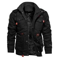 Mens Fashion Winter Fleece Warm Hooded Multi Pockets Casual Cotton Jacket New