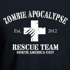 ZOMBIE APOCALYPSE RESCUE TEAM 2012 funny walking dead horror Halloween T-shirt
