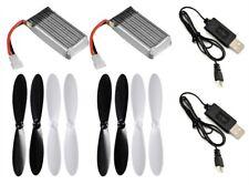 JXD 392 3.7v 380mAh 25c LiPo USB Chargers Batteries 2 x Battery & Propeller U148