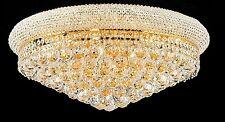 "Palace Bangle 24"" Crystal Chandelier Flush Mount Light Gold Precio Mayorista"