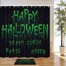 "Death Paris Green Curse Legend Shower Curtain Bath Decor Fabric & 12hooks 71x71"""
