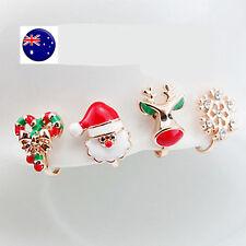 1x Girl Kid Lady Christmas Fake Earrings clip on no ear piercing OR piercing