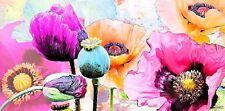 Michael Tarin: Summer Poppies II Keilrahmen-Bild Leinwand Blumen Mohn Pop bunt