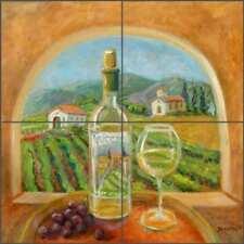 Vineyard Tile Backsplash Margosian Wine Art Ceramic Mural JM122
