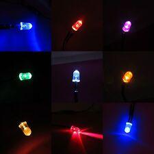 5mm 12v LED Diodo Ultra luminosa Pre-Wired 20cm cavo che emette luce segno chiaro