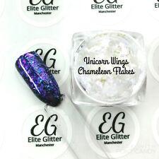 Nail Art Glitter Chameleon Flake Iridescent Purple Unicorn Wings