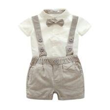 Baby Kid Boys Wedding Formal Suit Bowtie Gentleman Romper Tuxedo Newborn Outfit
